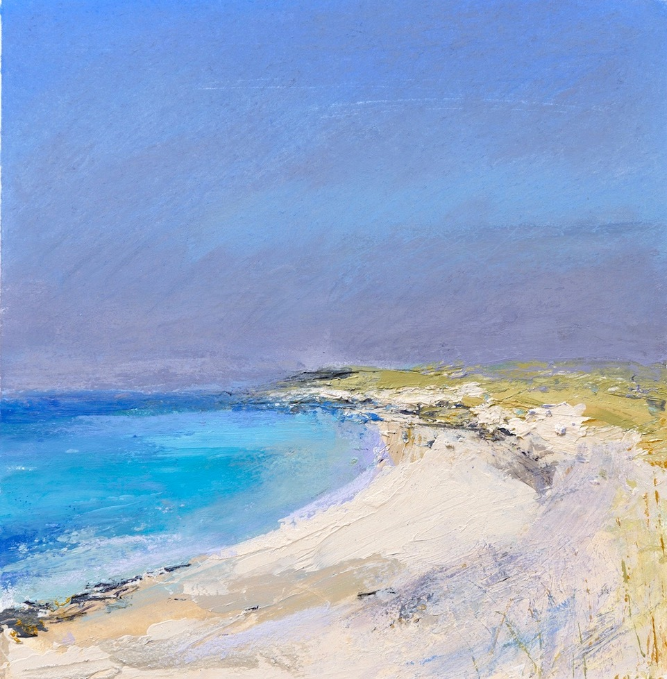 Painting of Sanna Sands by Tracy Levine, a piece of original art available to buy at Scotland Art